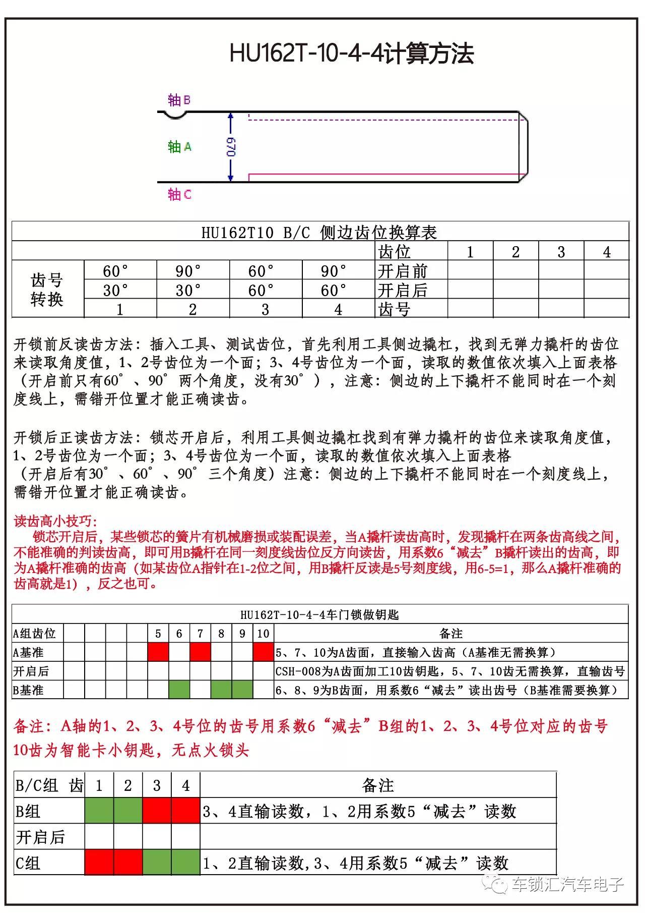 大众HU162T-8-9-10齿计算方法